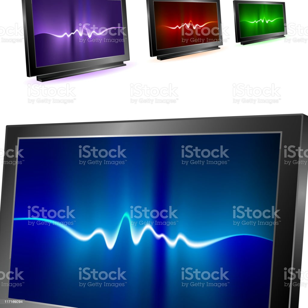 Visual displays with abstract waves Background royalty-free visual displays with abstract waves background stock vector art & more images of abstract