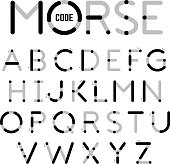 Visual guide learning Morse Code
