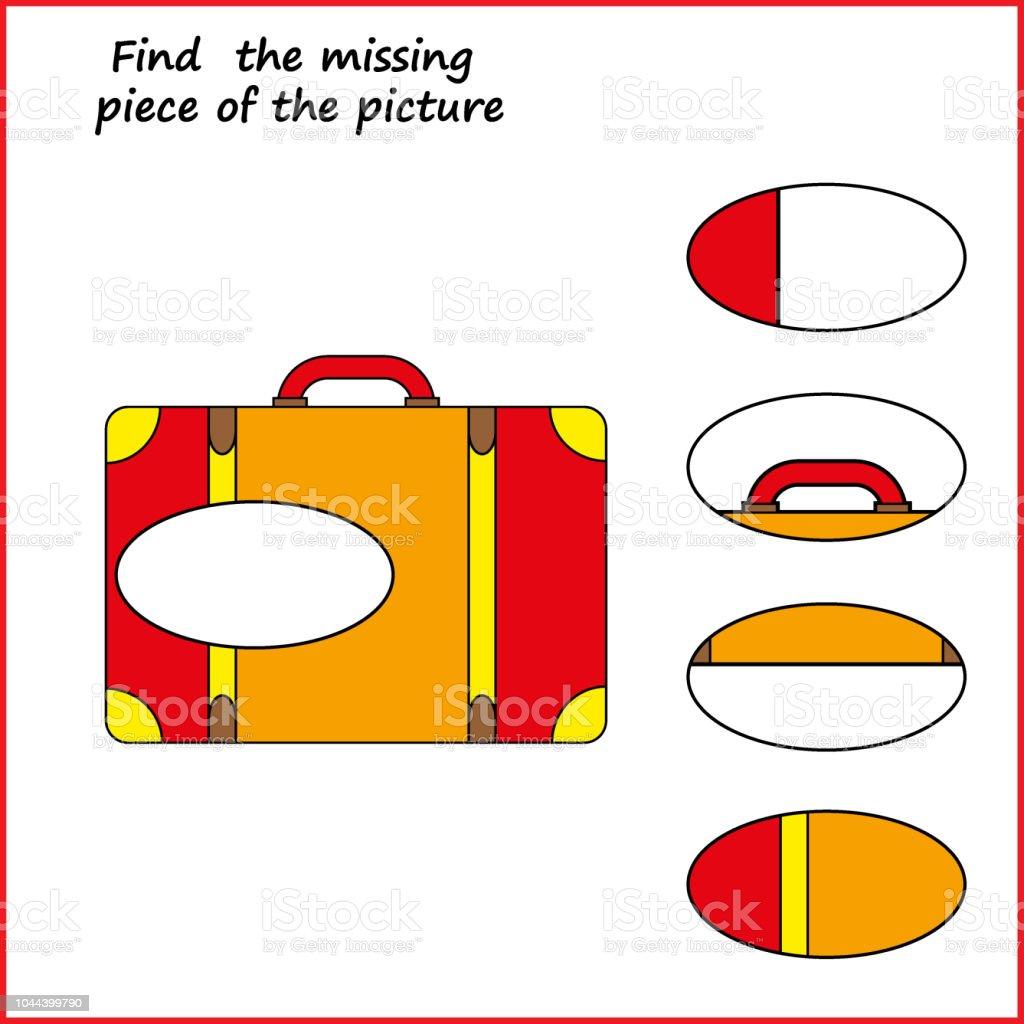 Ilustracion De Puzzle De Logica Visual Buscar Pieza Faltante Juego