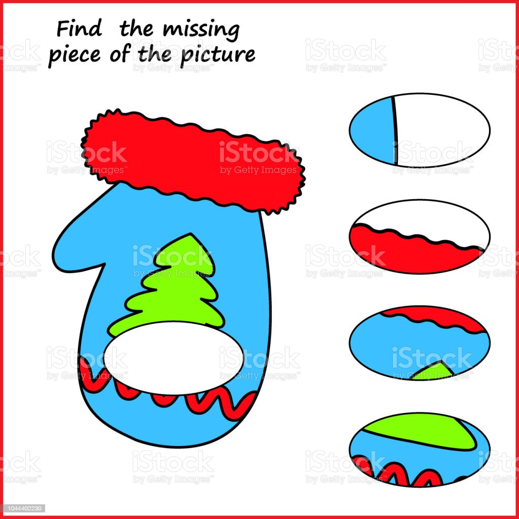 Visual Logic Puzzle Find Missing Piece Puzzle Game For Kids ...