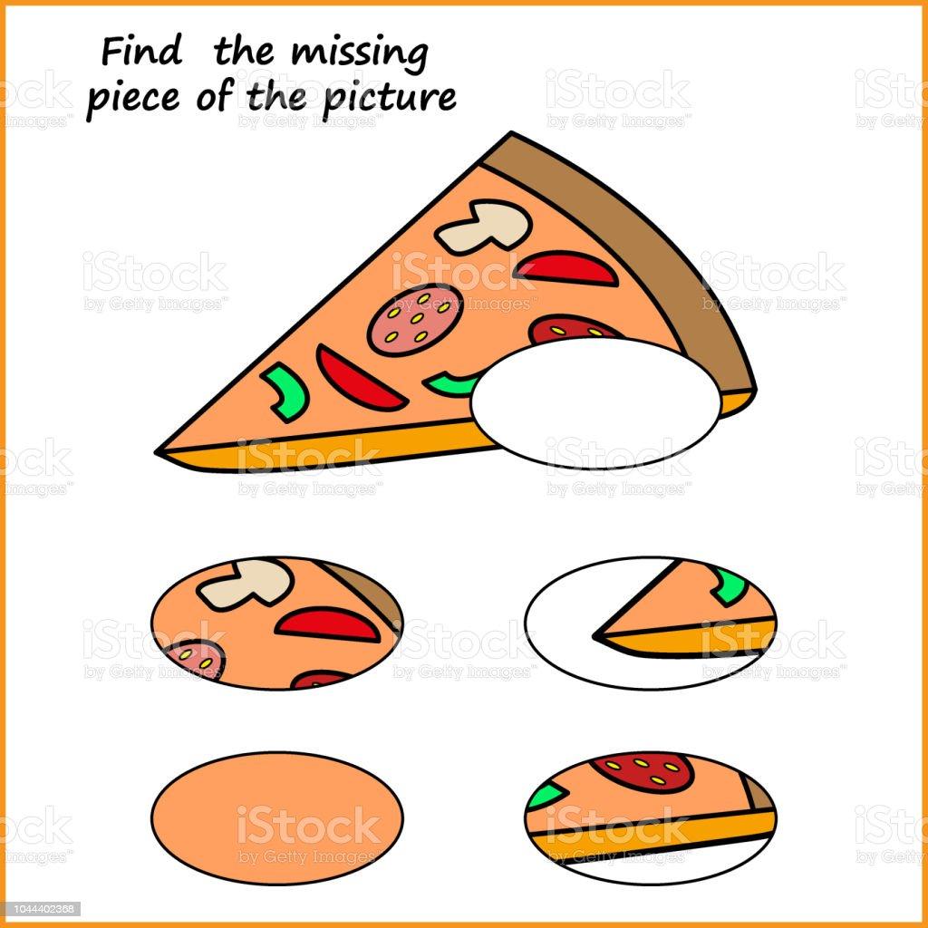Visuelle Logik Puzzle Finden Sie Fehlende Stück Puzzlespiel Für ...