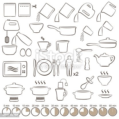 Visual Manual Instructions On How To Cook Stock Vector Art