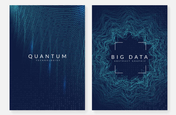 Visualization background. Technology for big data, artificial in Deep learning background. Technology for big data, visualization, artificial intelligence and quantum computing. Design template for communication concept. Modern deep learning backdrop. machine learning stock illustrations