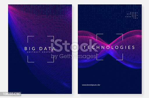 Deep learning background. Technology for big data, visualization, artificial intelligence and quantum computing. Design template for intelligence concept. Colorful deep learning backdrop.
