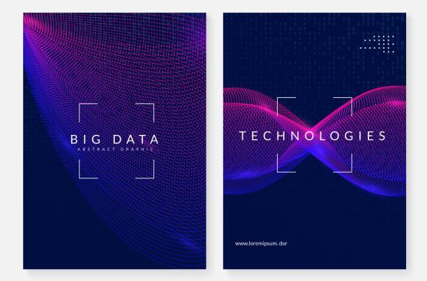 visualisierung-hintergrund. technologie für big data, künstlich im - innovation stock-grafiken, -clipart, -cartoons und -symbole