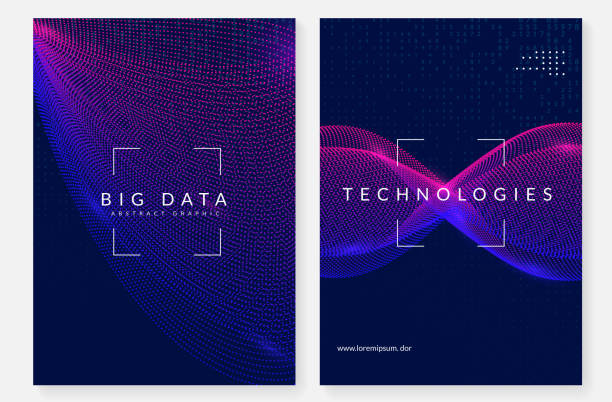 Visualization background. Technology for big data, artificial in vector art illustration