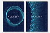 Deep learning background. Technology for big data, visualization, artificial intelligence and quantum computing. Design template for interface concept. Abstract deep learning backdrop.