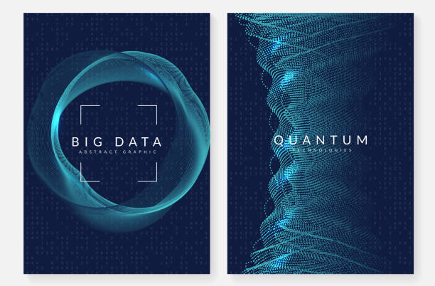 Visualization background. Deep learning background. Technology for big data, visualization, artificial intelligence and quantum computing. Design template for interface concept. Abstract deep learning backdrop. machine learning stock illustrations
