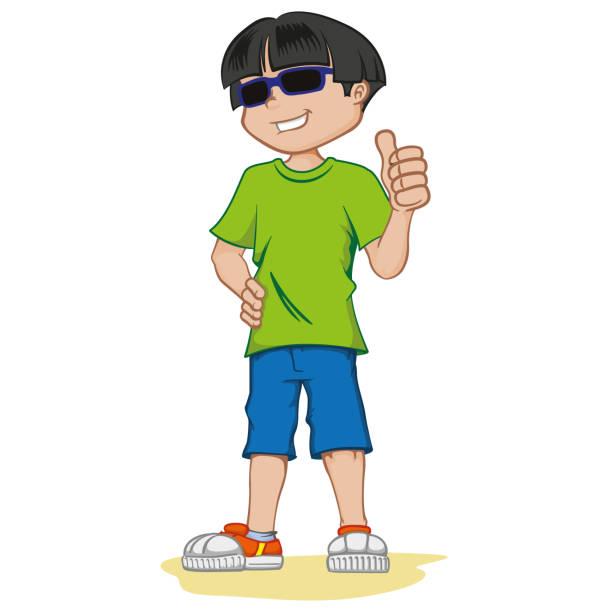 ilustraciones, imágenes clip art, dibujos animados e iconos de stock de persona con discapacidad visual, con gafas oscuras. ideal para catálogos, boletines de salud e institucionales - cabello negro