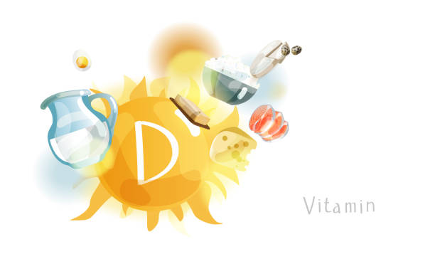 vit min_103 - vitamin d stock illustrations