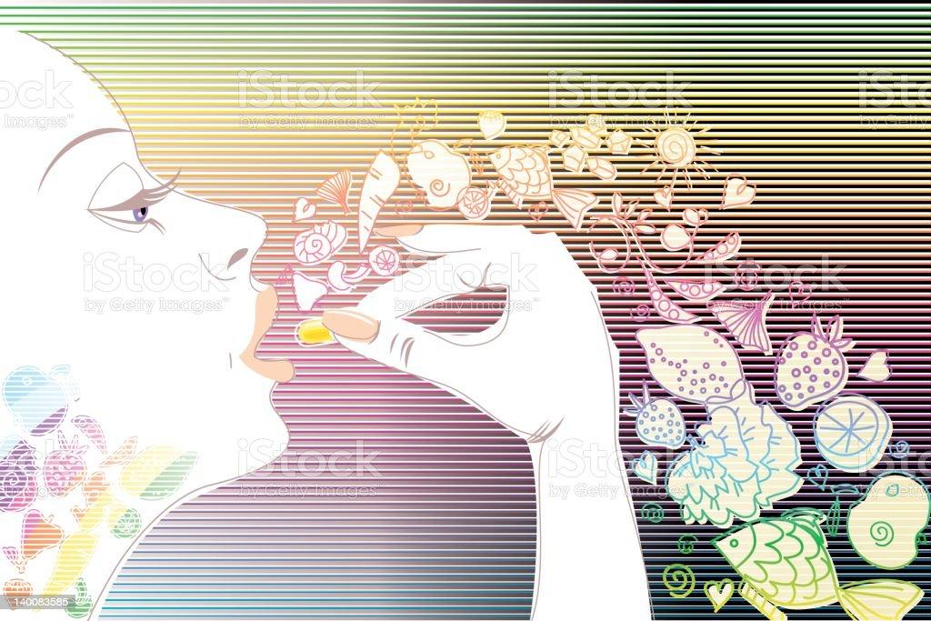 Vita Woman vector art illustration