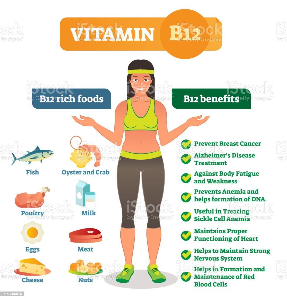 Que beneficios nos da la vitamina b12