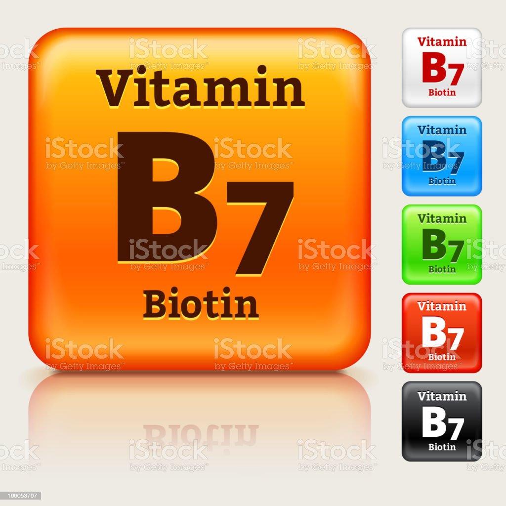 Vitamin B7 Multi Colored Button Set royalty-free stock vector art