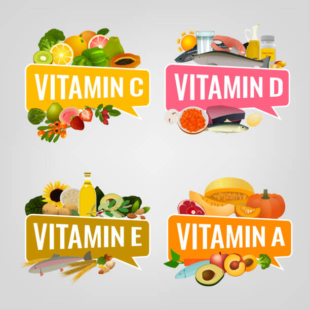 vitamin banner image - vitamin d stock illustrations