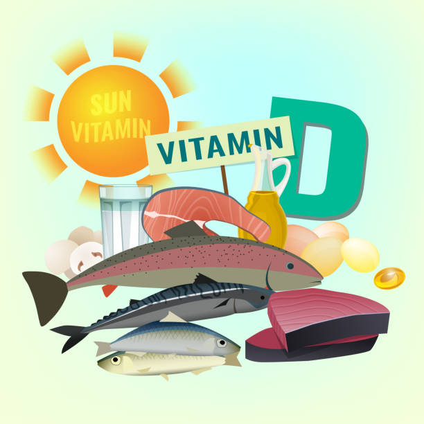 vitamin d image - vitamin d stock illustrations