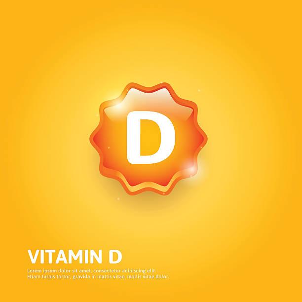 vitamin d label - vitamin d stock illustrations