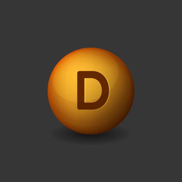 vitamin d orange glossy sphere icon on dark background. vector - vitamin d stock illustrations