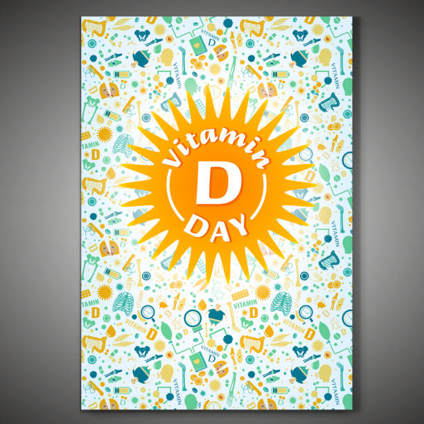 vitamin d poster - vitamin d stock illustrations