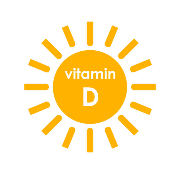vitamin d sun icon design. - vitamin d stock illustrations