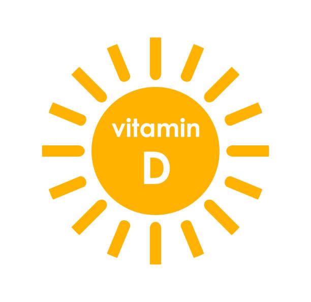 비타민 d 태양 아이콘 디자인입니다. - vitamin d stock illustrations