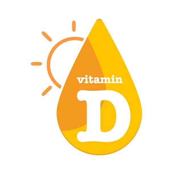 vitamin d sun shining icon collection set, cholecalciferol. golden drop vitamin complex drop. medical for heath vector illustration - vitamin d stock illustrations