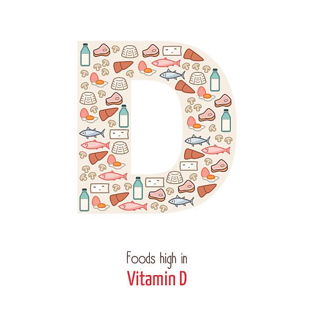 witamina d - vitamin d stock illustrations