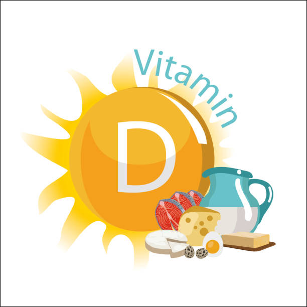 비타민 d - vitamin d stock illustrations