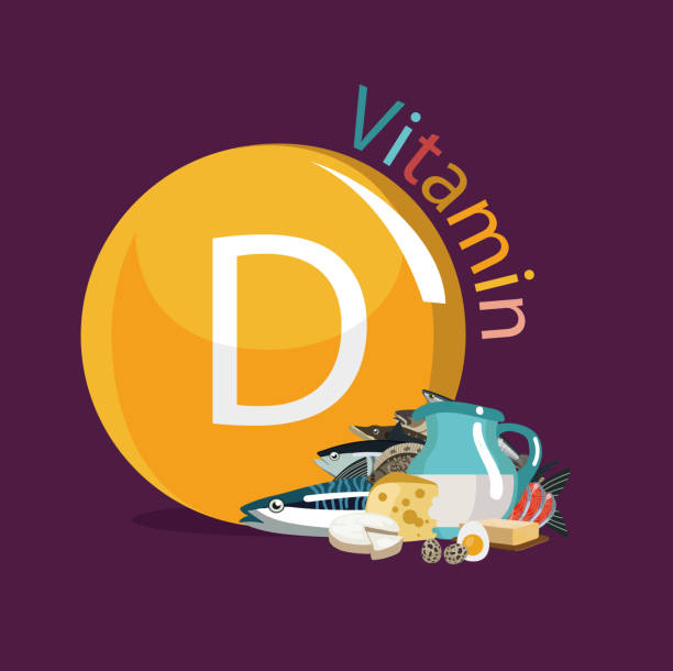 витамин d - vitamin d stock illustrations