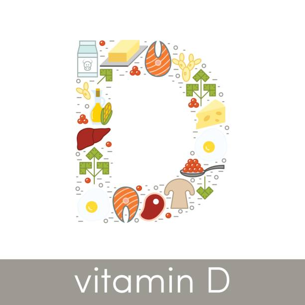 vitamin d vector - vitamin d stock illustrations