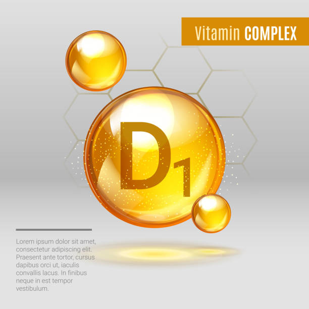 vitamin d1 gold shining pill capcule icon . - vitamin d stock illustrations
