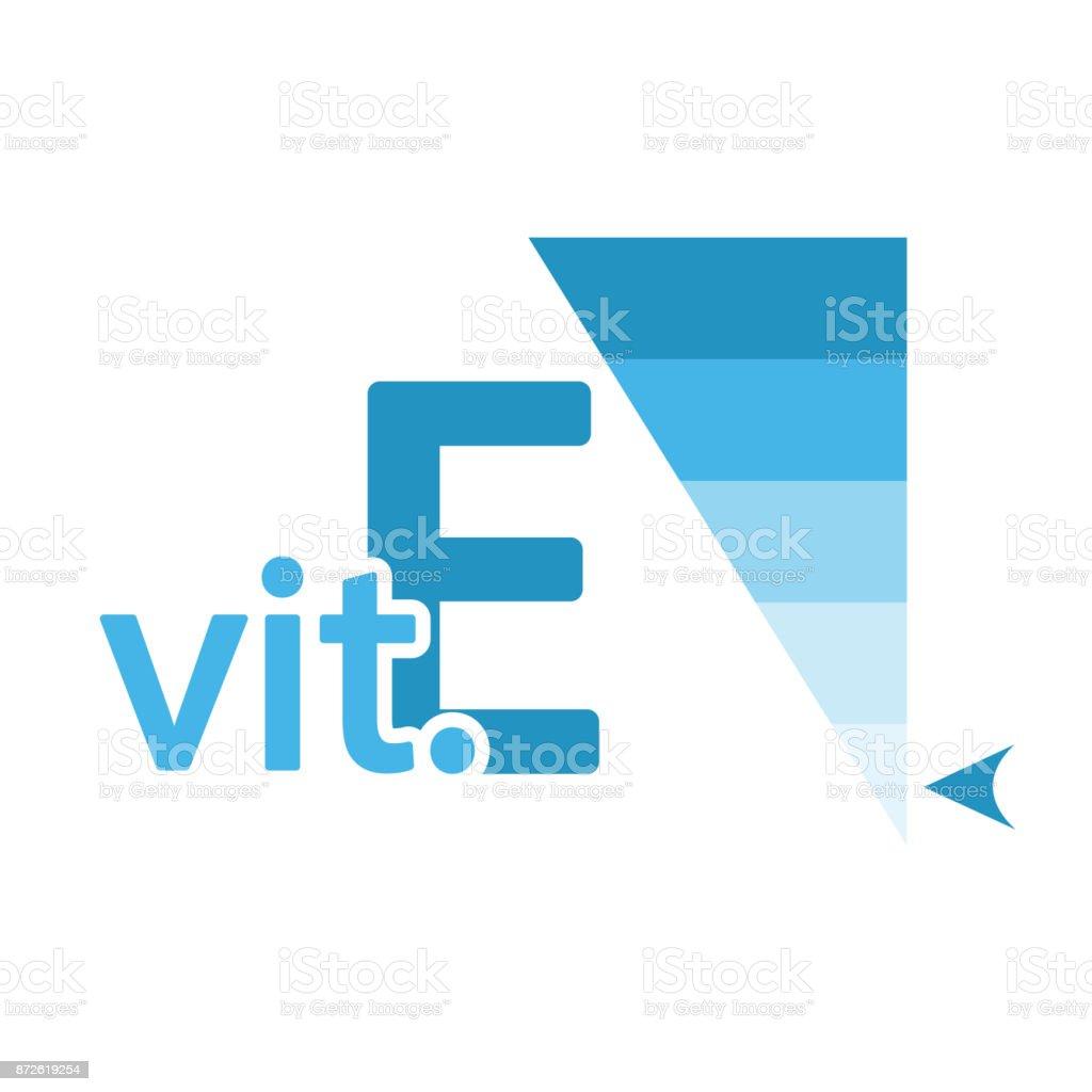 Vitamin E Content Indicator Sign vector art illustration