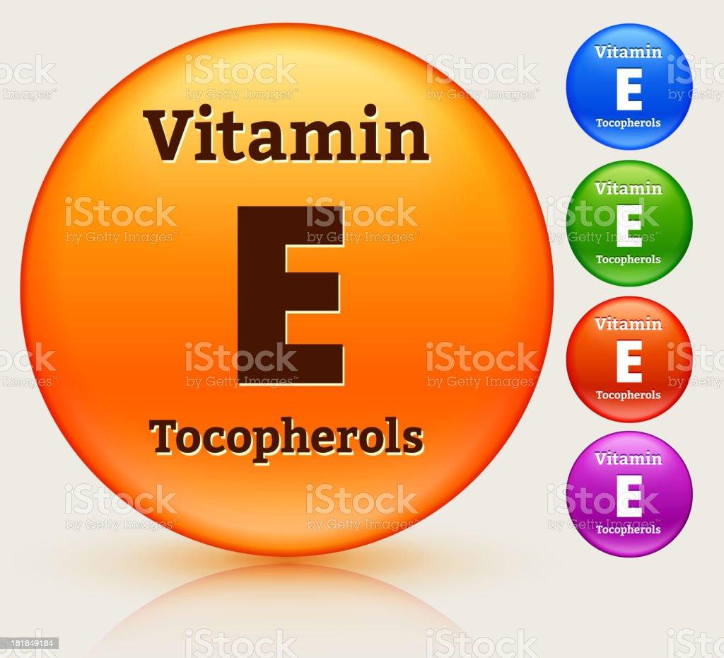 Vitamin E Multi Colored Button Set vector art illustration