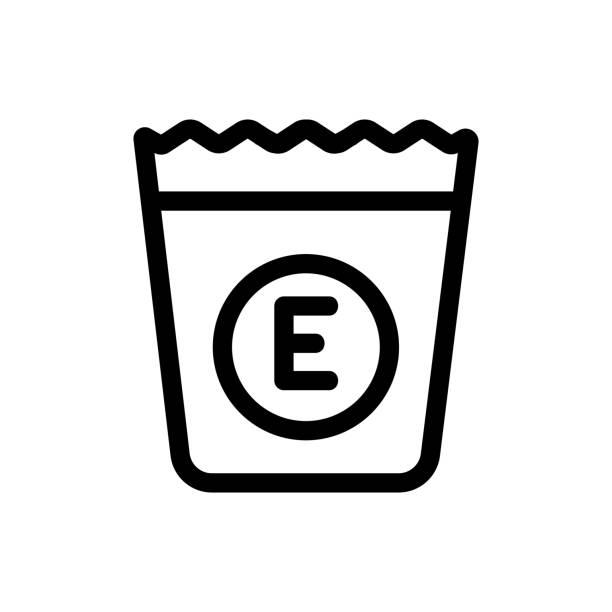 witamina e suplement ikona wektor. ilustracja symbolu izolowanego konturu - vitamin d stock illustrations