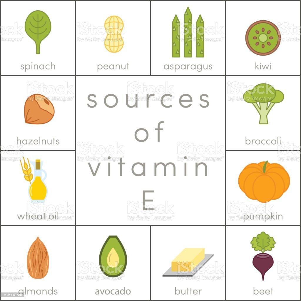 Vitamin E vector vector art illustration