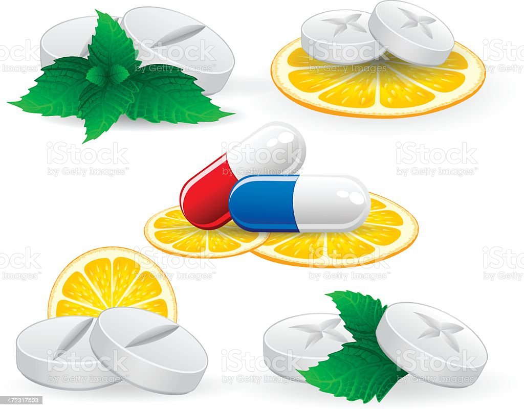 Vitamin Pill royalty-free stock vector art