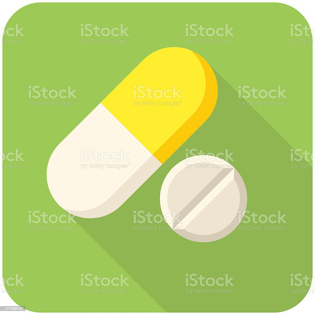 Vitamin pills icon vector art illustration