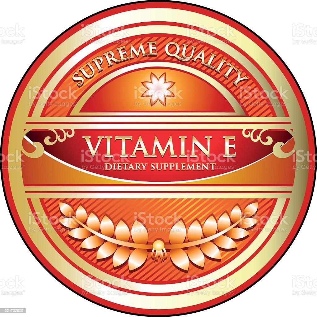 Vitamin Tocopherol vector art illustration