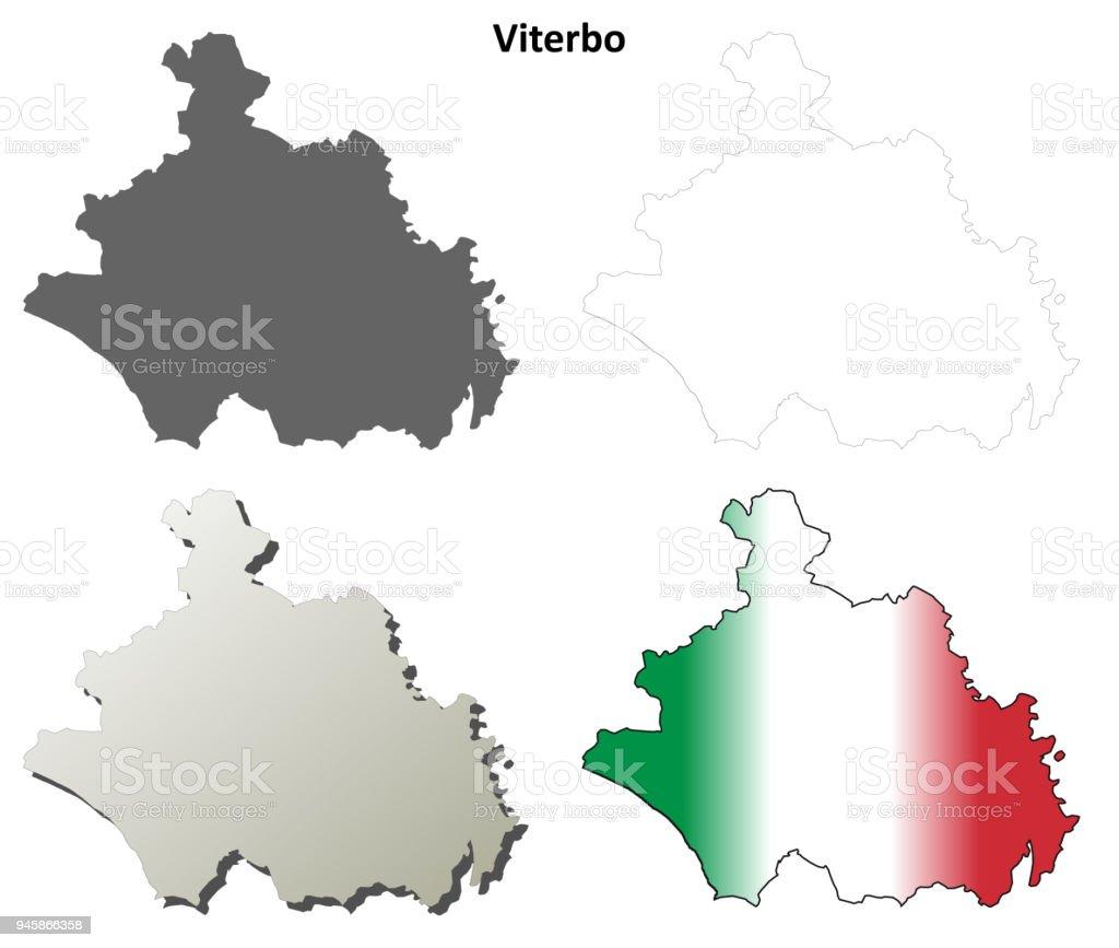 Viterbo Blank Detailed Outline Map Set Stock Vector Art More