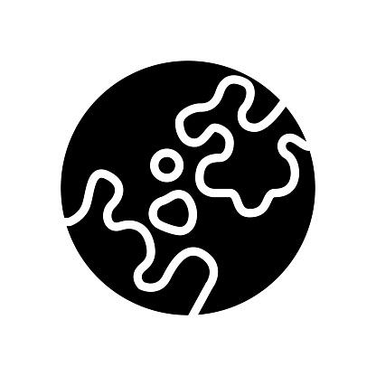 vitiligo skin disease glyph icon vector illustration