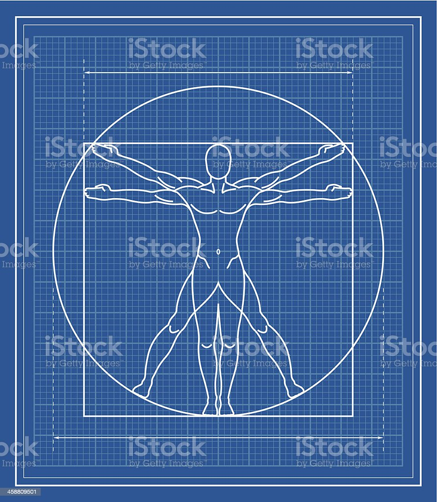Vitruvian man blueprint stock vector art more images of blueprint vitruvian man blueprint royalty free vitruvian man blueprint stock vector art amp more images malvernweather Image collections