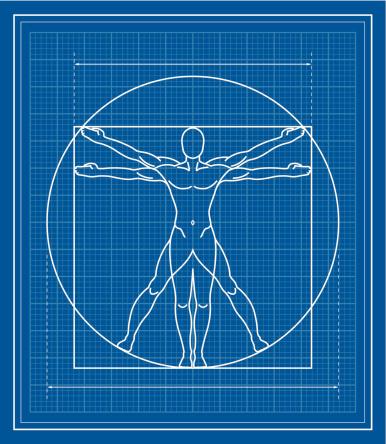 Vitruvian Man blueprint