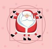 Vitruvian Santa
