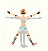 Vitruvian Woman, gaming fan