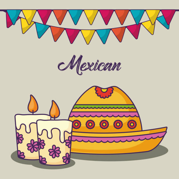 Royalty Free Mexican Aztec Symbols Cartoon Clip Art Vector Images