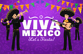 istock Viva Mexico fiesta mariachi musician characters 1291129864
