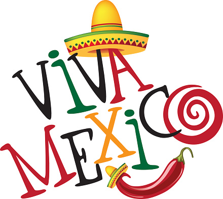 Viva Mexico  hand drawn type design.