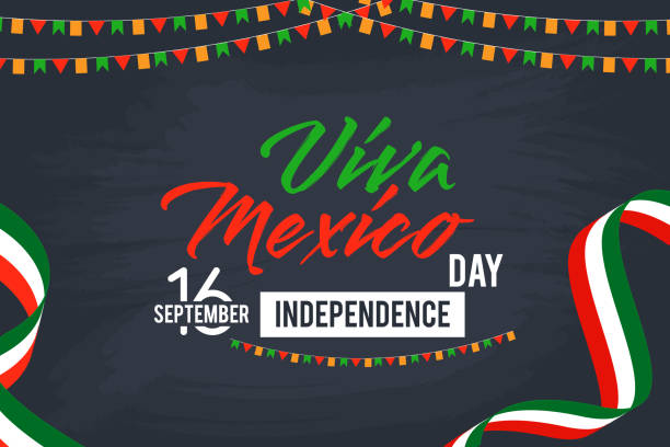 墨西哥萬歲快樂獨立日向量背景 - 獨立 幅插畫檔、美工圖案、卡通及圖標