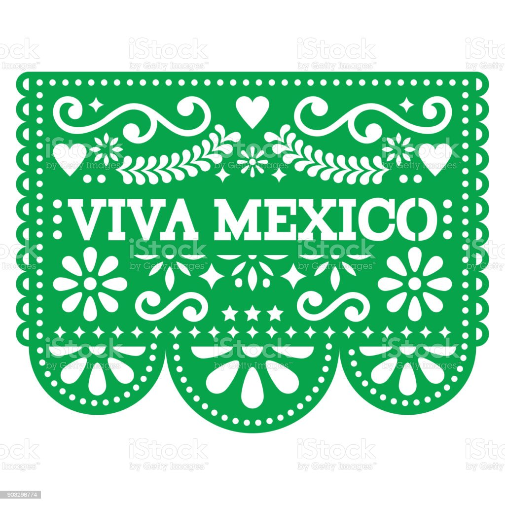 Viva mexico papel picado vector design mexican paper decoration with viva mexico papel picado vector design mexican paper decoration with pattern and text royalty mightylinksfo
