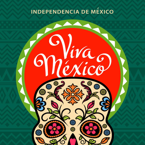 Viva Mexico Sugar Skull – Vektorgrafik