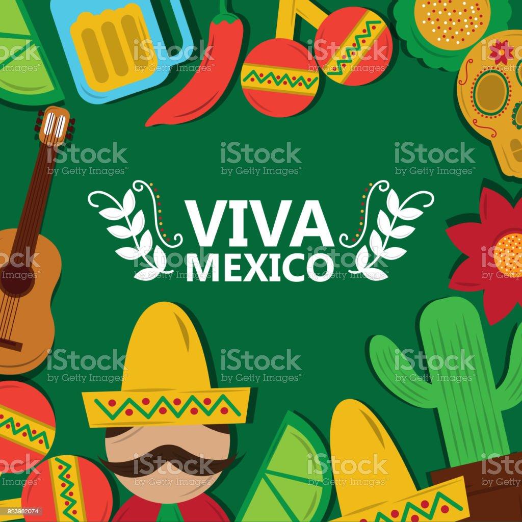 Ilustración de Saludo De Cartel Del Festival De Viva México ...